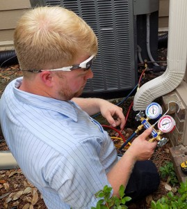 Parker Heating and Cooling AC Service Call